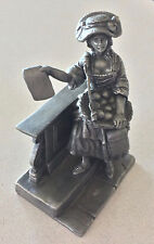 THE FRANKLIN MINT The Playbill Seller Pewter Figurine 1977