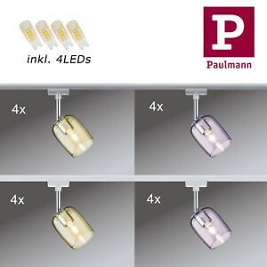 4er Set Paulmann URail Schienensystem Spot Blossom inkl 4x G9 Warmweiß  LED 3,5W