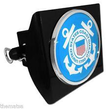 COAST GUARD BLUE SEAL CHROME BLACK DECAL USA MADE PLASTIC TRAILER HITCH COVER
