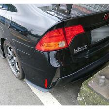 Painted Black FOR Honda Civic 8th 4D Sedan Rear Side Splitter Spoiler 2006-2011
