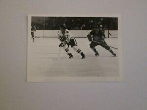 NHL Boston Bruins Legend Brad Park rushing the puck Original Photo