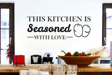 This Kitchen Is Seasoned With Love Vinilo Decorativo Pegatinas De Pared Adhesivo