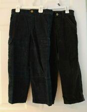 Boys Lot of 2 Brown and Navy Corduroy Adjustable Waist Dress Pants Size 6