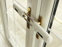 French Double Door Steel Lock uPVC Conservatory Home Security No Drill Easy Fit