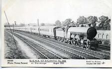 Pamlin repro photo postcard M3520 ex GNR LNER C1 Atlantic 4406 Stevenage 1933