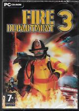 Fire Department 3 PC CD-ROM jeu Windows XP (Pompier) Neuf/Scellé