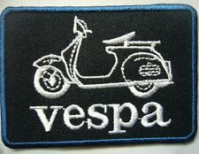Logo Vespa SCOOTER MOTORCYCLES EMBROIDERED IRON ON PATCH Sew on fabric 1 Pcs