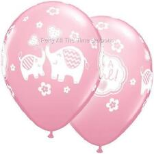 "10pc Pink Elephant BABY shower Latex balloons 11"" Umbrella FREE SHIPPING"