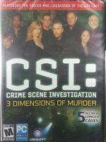 CSI CRIME SCENE INVESTIGATION 3 DIMENSIONS OF MURDER PC WIN XP New