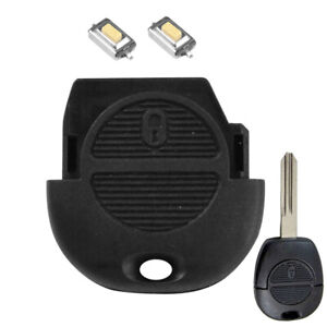 2 Buttons Key Shell Replacement Repair For Nissan Micra Almera X-Trail Patrol