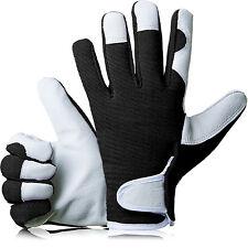 GardenersDream Ladies / Mens Slim Fit Leather Gardening Work Gloves - Black