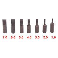 "12Pcs/Set Screwdriver Bit 25mm 1/4"" Hex Shank Flat Head Magnetic S2 steel Kit"