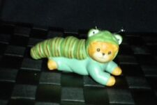 "Enesco Porcelain Lucy & Me ""Green Worm"" Teddy Bear Figurine"