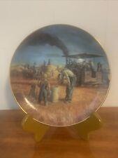 Danbury Mint Prairie Gold Farmland Memories Collector Plate