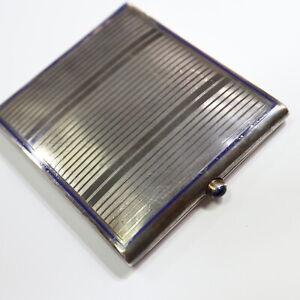 Schönes, historisches Zigarettenetui 800 Silber, teilemailliert