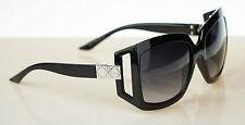 RARE NEW Genuine Christian DIOR 61/1 Shiny Black Grey Gradient Sunglasses D281B