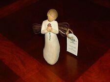 "Willow Tree Angel ""Loving Angel"" Holding Rose, Demdaco Susan Lordi, 2002"