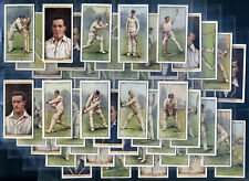 More details for wills cigarette card set - cricketers 2nd series 1929 - surrey sussex kent notts