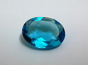 10*12mm Blue Topaz Color Hydro Oval Cut Stone 1pc For Setting, Clean Good Color