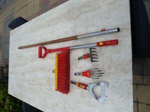 wolf garten multi change set job lot wolf-garten tools rake broom hoe