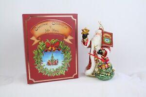 Christmas Celebration John Huras Santa Claus Neiman Marcus Ornament Original Box