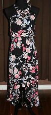 NEW WITH TAGS~ ELLE BRAND~ HIGH NECK~ SLEEVELESS~ HI LO DRESS~ SHEER
