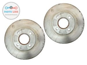 FOR 05-07 FORD FOCUS FRONT DISC BRAKE ROTOR ROTORS PLAIN PAIR SET-2 NEW W/O SVT