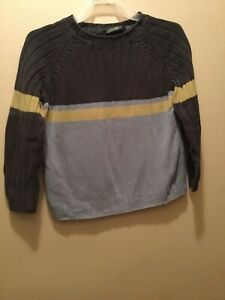 Boys' 5T Cherokee blue/green-striped colorblock sweater gently used
