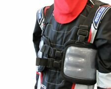 Storm Gris y Negro Costilla Protector Medio Go Kart Karting Carrera Racing