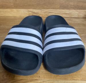 Adidad Slides Black UK Size 2 Flip Flop Crock Summer Boys Shoes