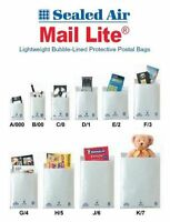 MAIL LITE PADDED BUBBLE WRAP LINED ENVELOPE POSTAL BAGS ALL SIZES WHITE & GOLD