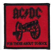 "ACDC AC/DC Band Patch Iron On Patch 3"" x 3"" Rock Band Free Ship P-3189"