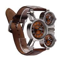 Men's Quartz Military Wristwatch 3-Movt Stainless Steel Sport Mechanical Watch