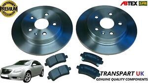 *VAUXHALL INSIGNIA 2.0 CDTI 1.8 PETROL REAR BRAKE DISCS SOLID AND PADS SET