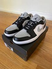 New Nike Air Jordan 1 Low Baron Shadow Smoke Grey DS Sizes 8-10.5 553558-039