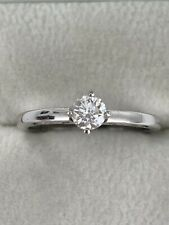 18ct White Gold Diamond Solitaire Ring 0.33 Carat Quality Diamond Very Sparkly!