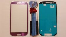 Samsung Galaxy S3 Purple Genuine Glass Replacement Screen Lens Tools + Adhesive