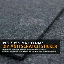 39.3?X 19.6?Felt Gray DIY Anti Scratch Sticker 2EA for HYUNDAI KIA Vehicles