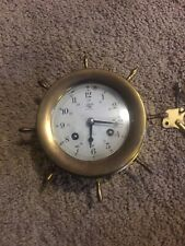Vintage Aug. Schatz  nautical ships bell clock