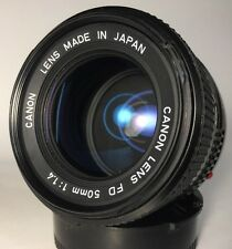 Canon FD 50mm f/1.4 Camera Lens WICKED FAST! Manual Prime Lens FD Mount (C863)