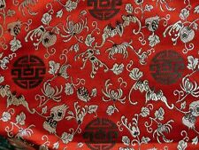 China Seidenstoff-Glücklich rot