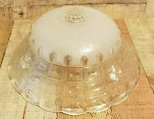 Vintage Frosted & Clear Glass Round Flush Ceiling Light Fixture.