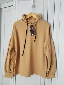 Oversized  Hoodie Size 10/12/14 BNWT Puff sleeve. Asos Influence