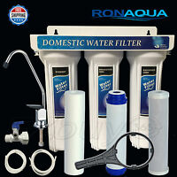 Under-Sink Three Stages Water Filter System