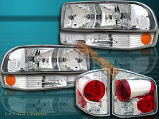 98-2004 CHEVY S10 BLAZER PICKUP CLEAR HEADLIGHTS + BUMPER LIGHTS + TAIL LIGHTS