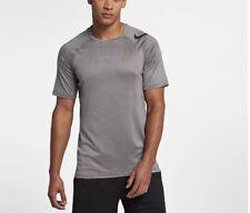 Men's Short Sleeve Training Top Nike Pro HyperCool - GREY /BLACK - LARGE - NEW