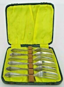 Boxed Set of 6 Vintage Cake Forks