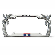 BELIZE FLAG PALM TREE TROPICAL COUNTRY PRIDE License Plate Frame Tag Holder