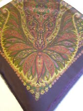 "SCARF SHAWL by a (ac-cents) Lane Bryant 100% polyester Italy 48"" sq Paisley WRAP"