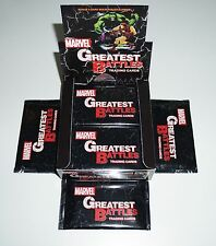 2013 Marvel Greatest Battles Case: 12 Boxes =NO SKETCH= FREE S&H =Gold Parallel=